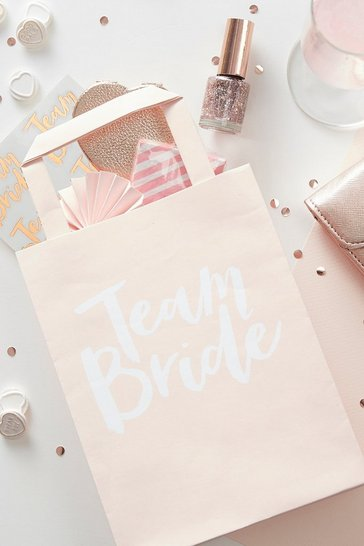 Natural Ginger Ray Team Bride Hen Gift Bags 5 Pck