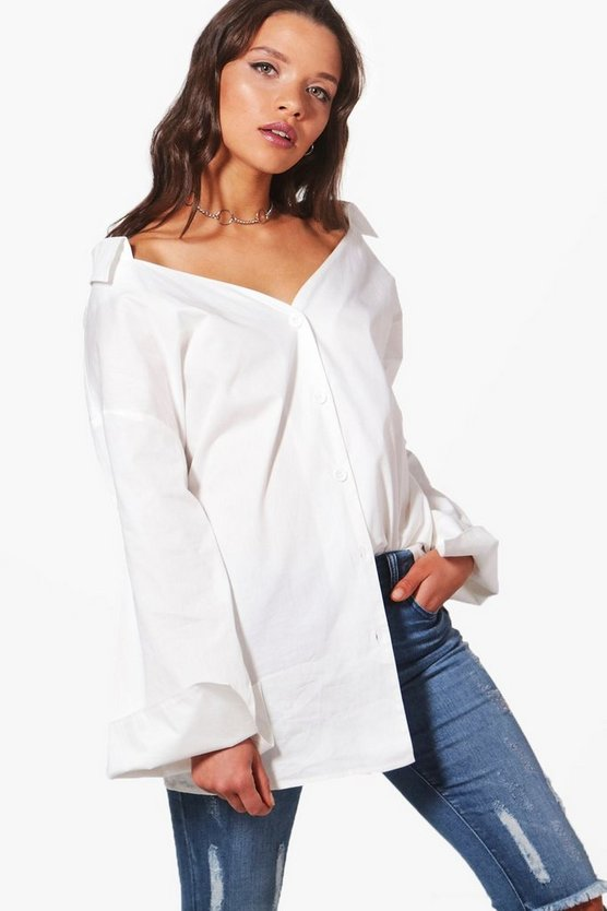 Grace Off The Shoulder Wide Sleeve Shirt