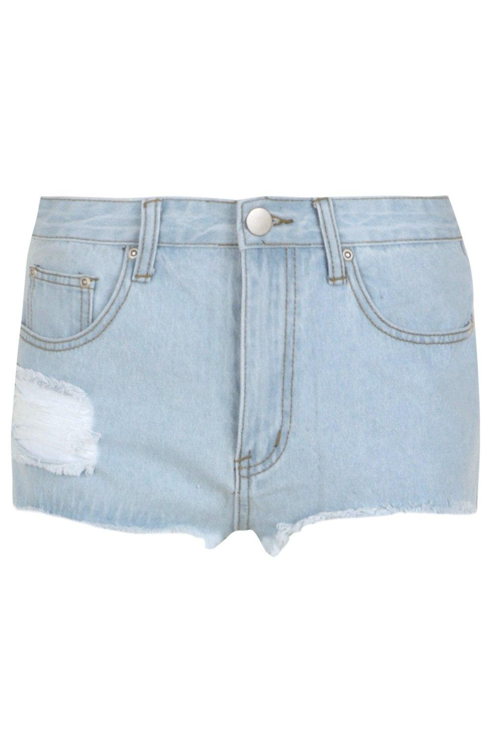 Shorts Hem Out Denim Mom Fray Cecily Cut blue x6agqwccYf