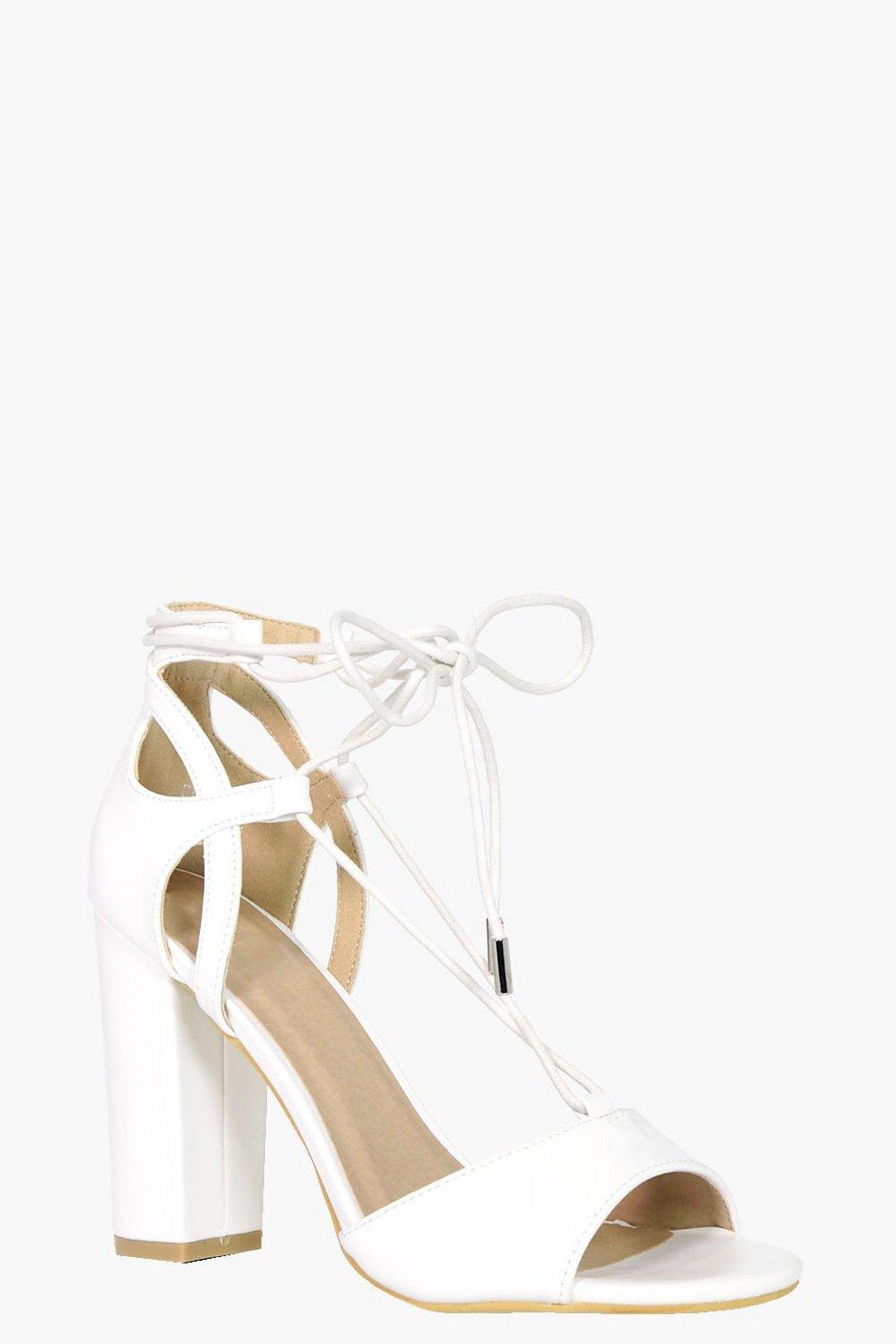 quality design ae339 4567c melissa scarpe con tacco largo e fascette incrociate alla ...