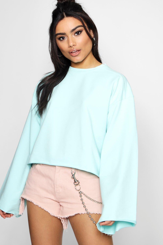 Sleeve Sleeve Wide Oversized Wide mint Sweatshirt Sweatshirt mint Oversized Wide Sweatshirt Sleeve Oversized wRvUZ4qAZ