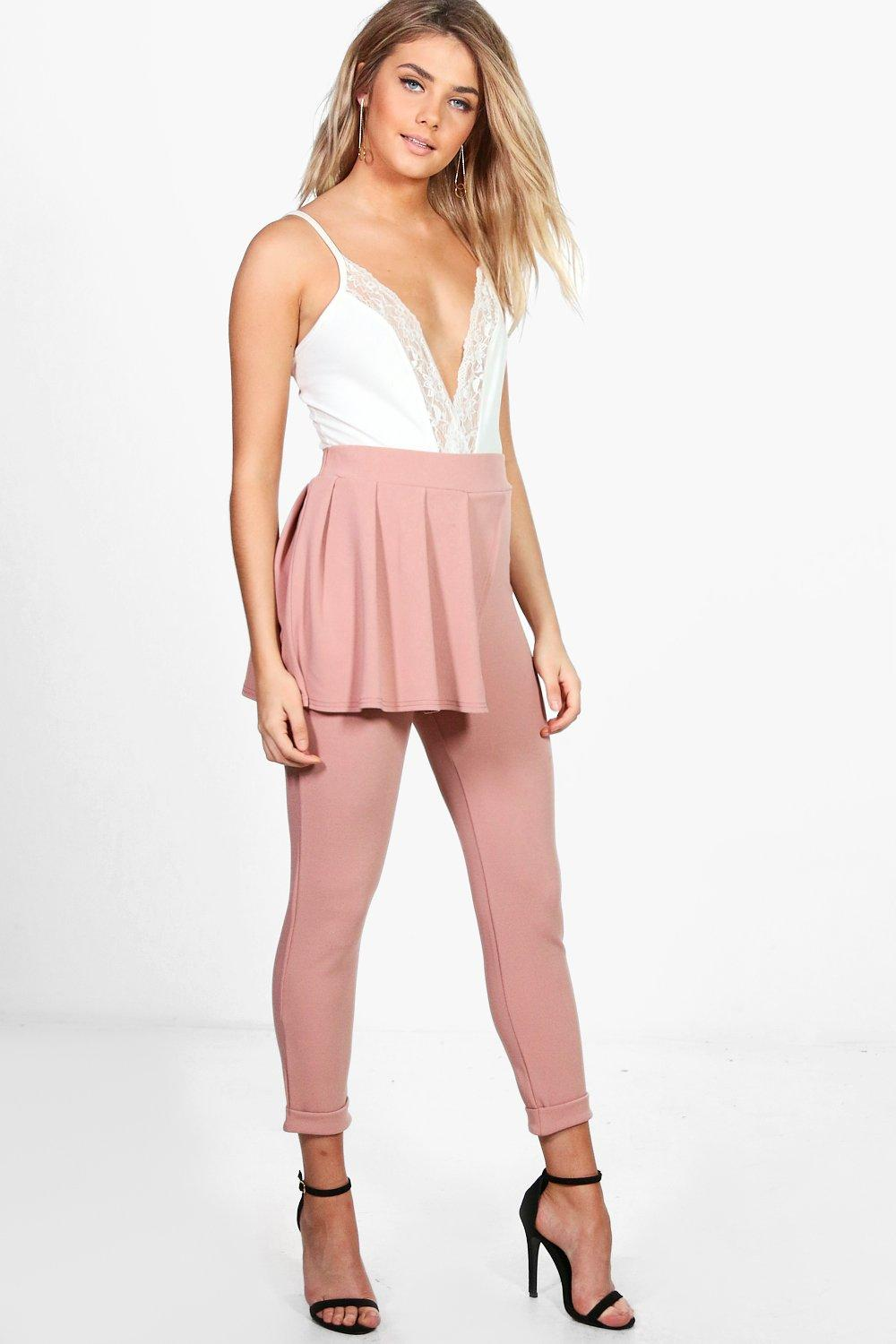 4a12bbb9651 Lottie Crepe Peplum Skinny Trousers. Hover to zoom