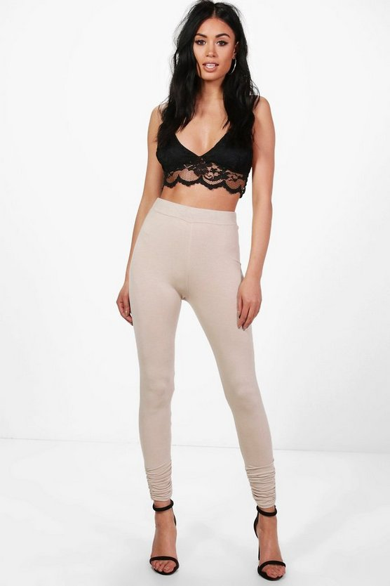 India Rouched Ankle Jersey Leggings