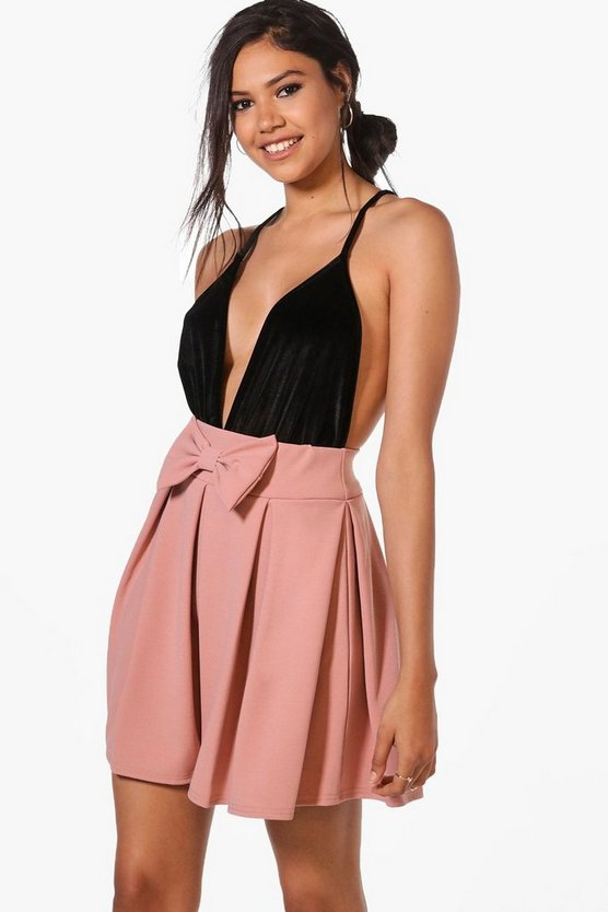 Theresa Bow Front Full Skater Skirt