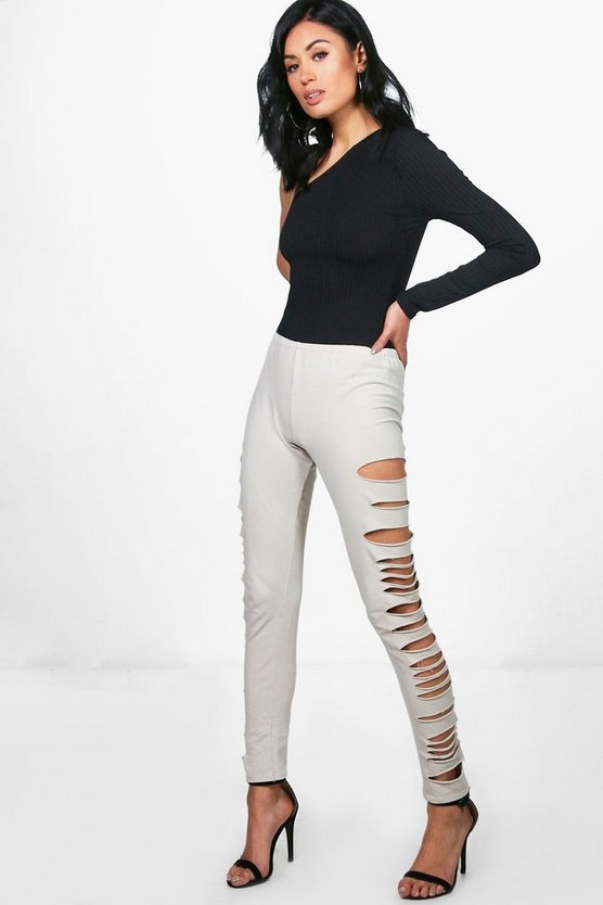 Womens Emily Split Side Loopback Leggings
