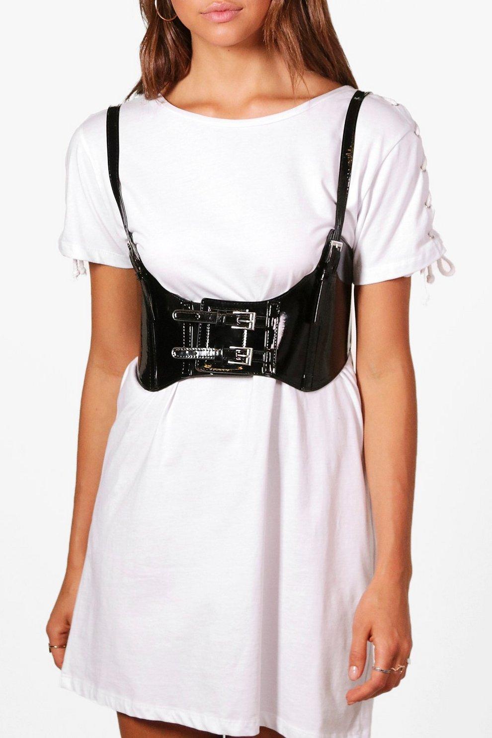 872e724803718 Rosie Patent Strappy Corset Belt