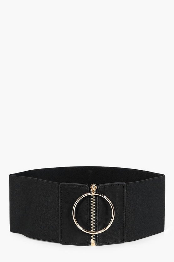 Zip Up Ring Waist Belt