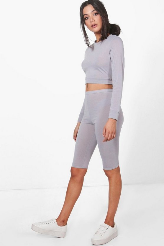 Erin Fine Knit Crop Lounge Set