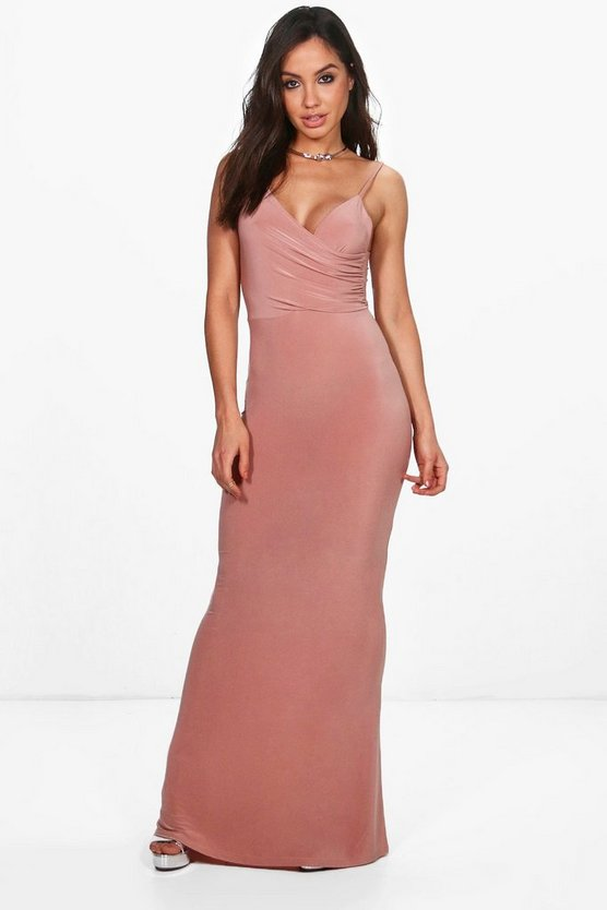 Orla Drape Top Slinky Maxi Dress
