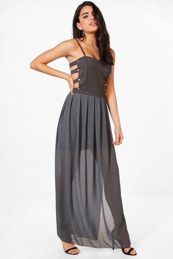 Georgina Cut Out Side Maxi Dress