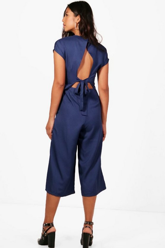 Libby Tie Back Tailored Culotte Jumpsuit