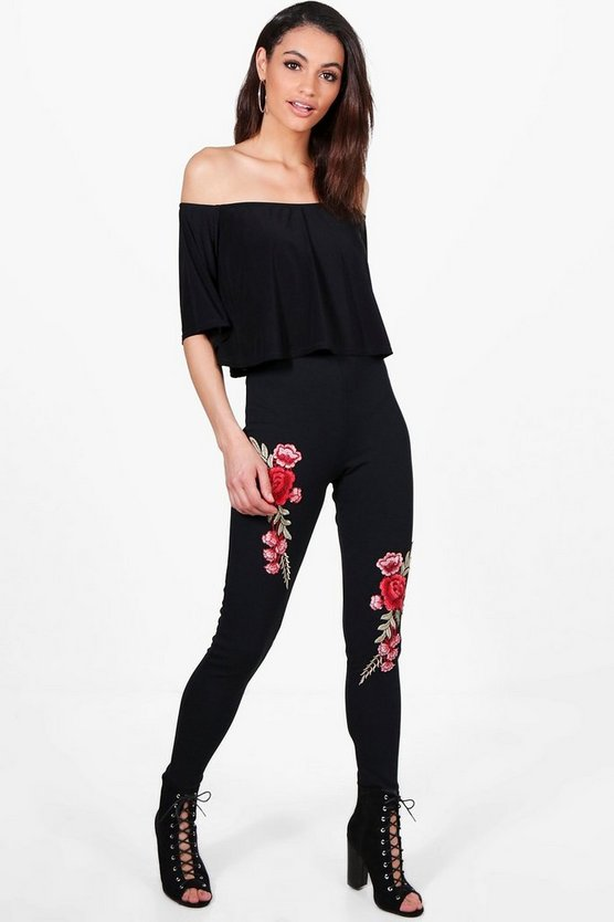 Sophie Embroidered Trouser & Frill Crop Co-Ord Set