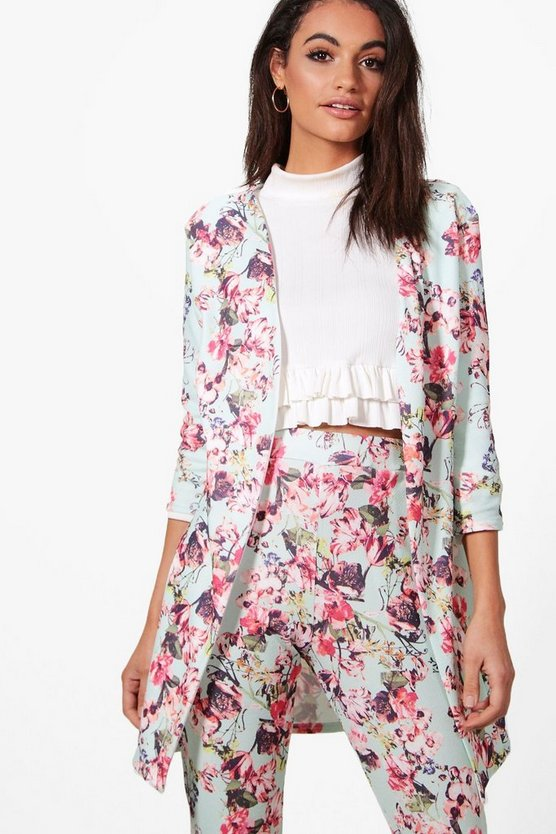Amy Pastel Floral Print Duster