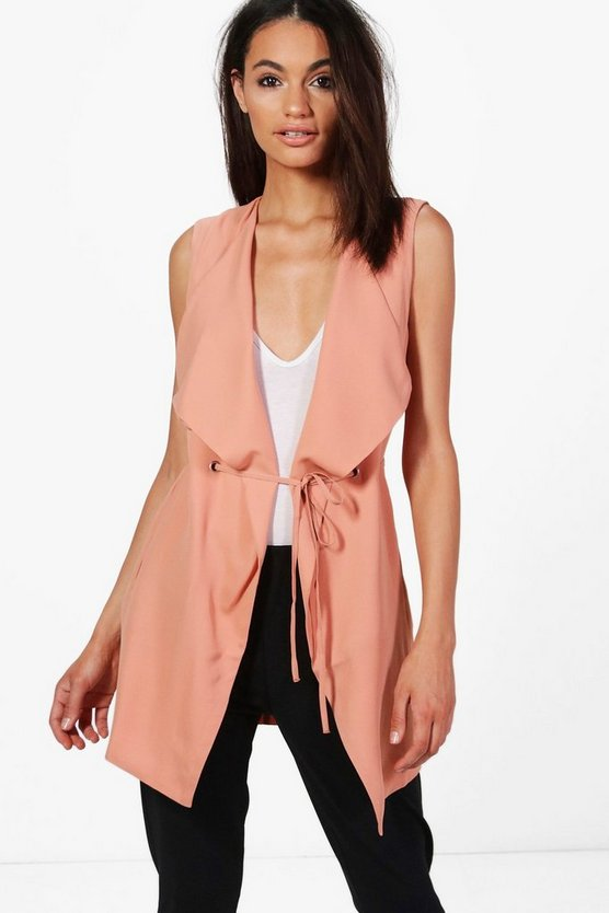 Nadia Waterfall Sleeveless Duster