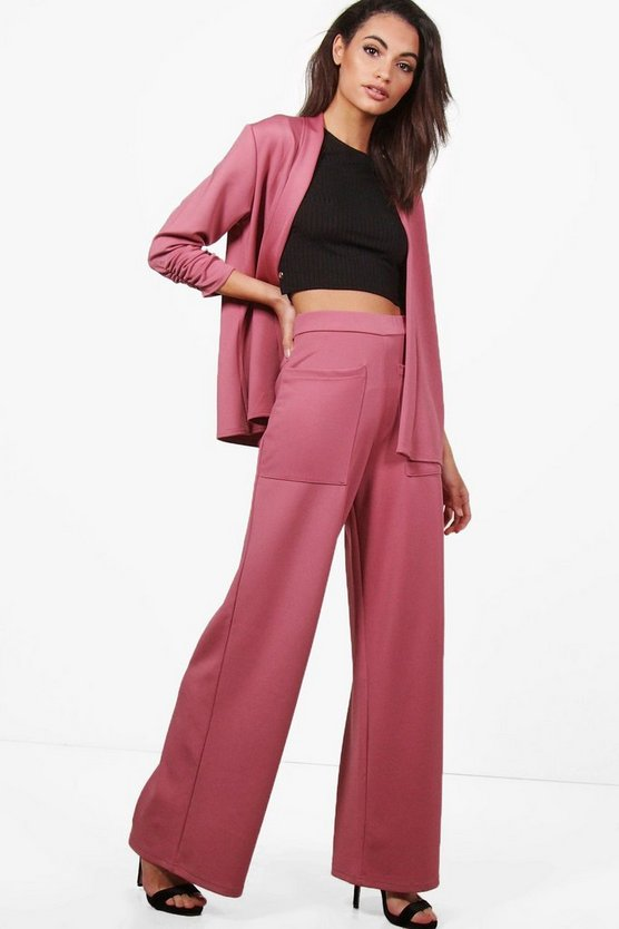Emily Pocket Wide Leg Trouser