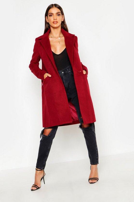 Zip Pocket Tailored Coat