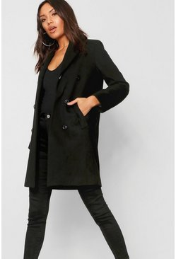 Black Double Breasted Coat
