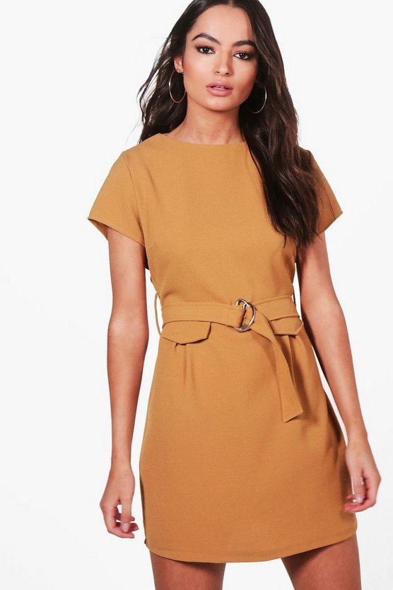 Katie Belted Short Sleeve Shift Dress