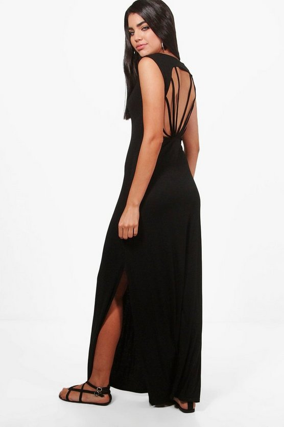 Eve Caged Back Maxi Dress