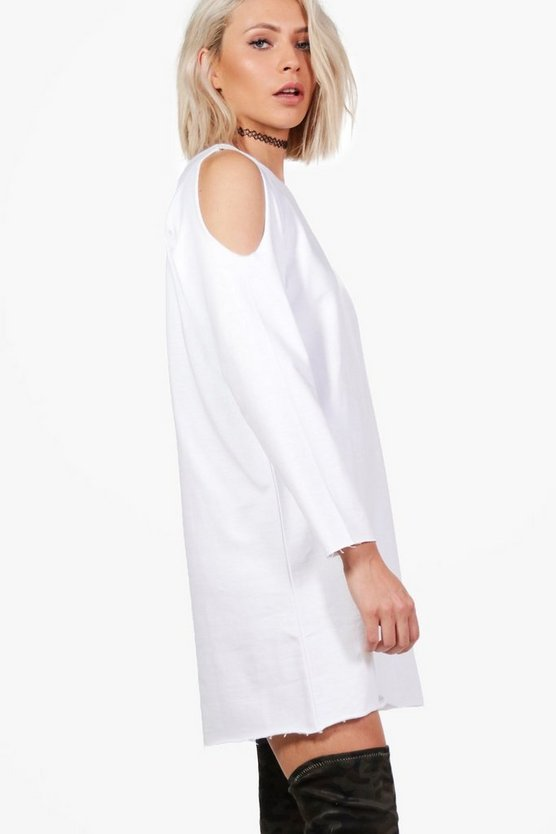 Cold Shoulder Sweat Dress