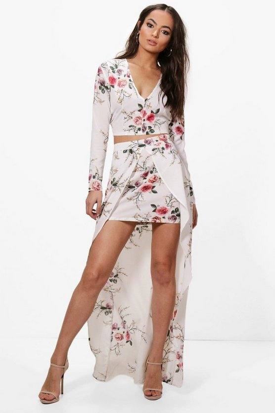 Danielle Floral Crop & Maxi Skirt Co-ord Set