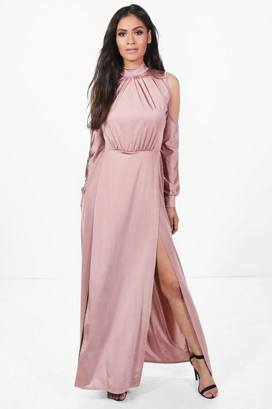 Gracie Slinky High Split Maxi Dress