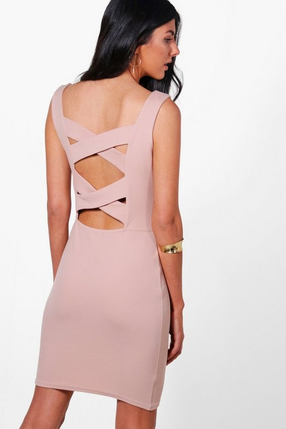 Isla Strapy Cross Back Bodycon Dress