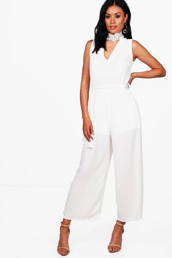 Jane Choker Neck Wide Leg Jumpsuit