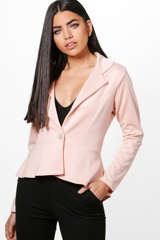 Georgina Peplum Button Blazer