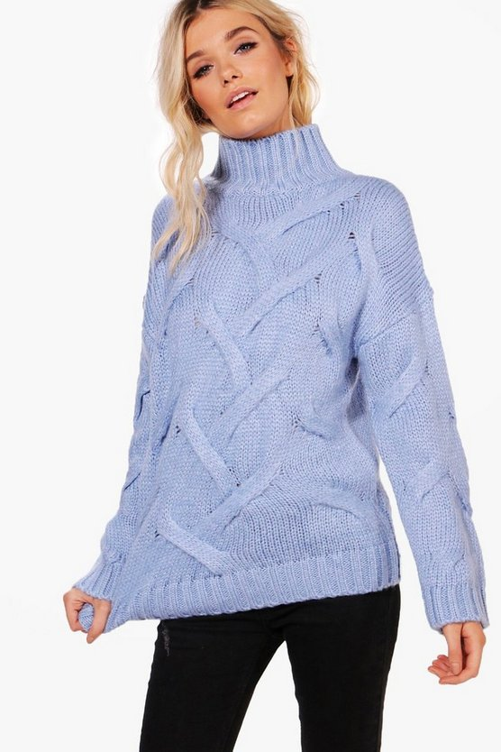 Soft Knit Cable Jumper Soft Knit Cable Jumper by Boohoo