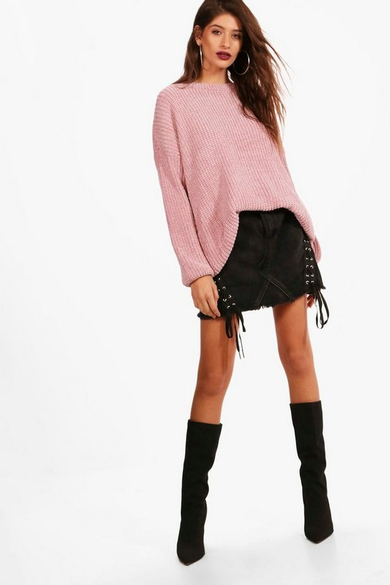 Oversized Chenille Tunic Jumper