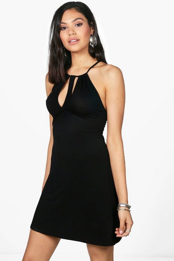 Caged Cut Out Swing Dress