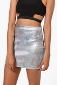 9bc93b3e9dd1 ... Womens Multi Cora Metallic Festival Mini Skirt alternative image