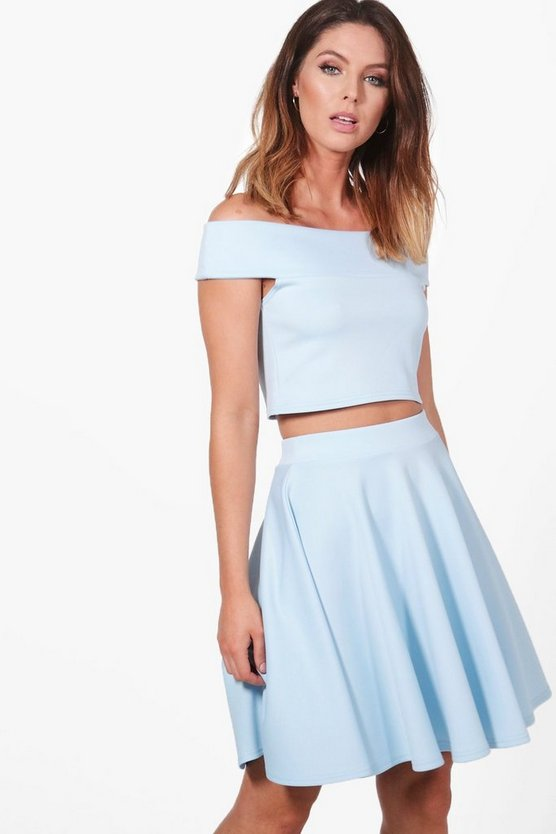 Tasmin Off Shoulder Crop & Skirt Co-ord