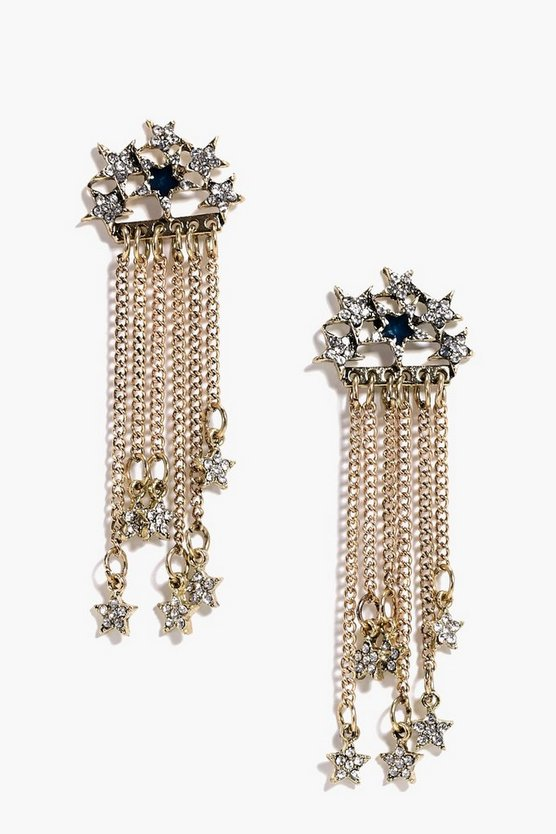 Rose Boutique Diamante Star Earrings
