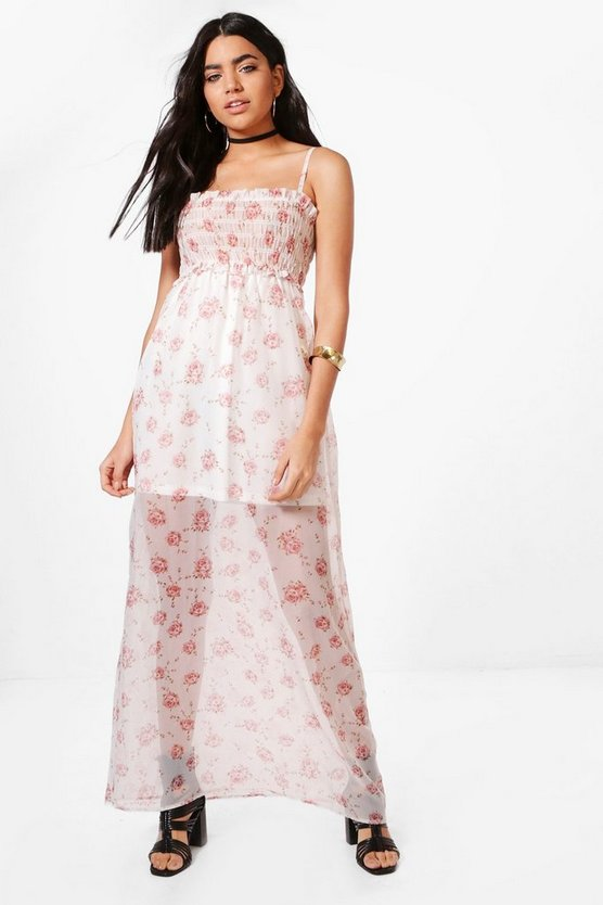 Lilly Floral Sleeved Woven Maxi Dress