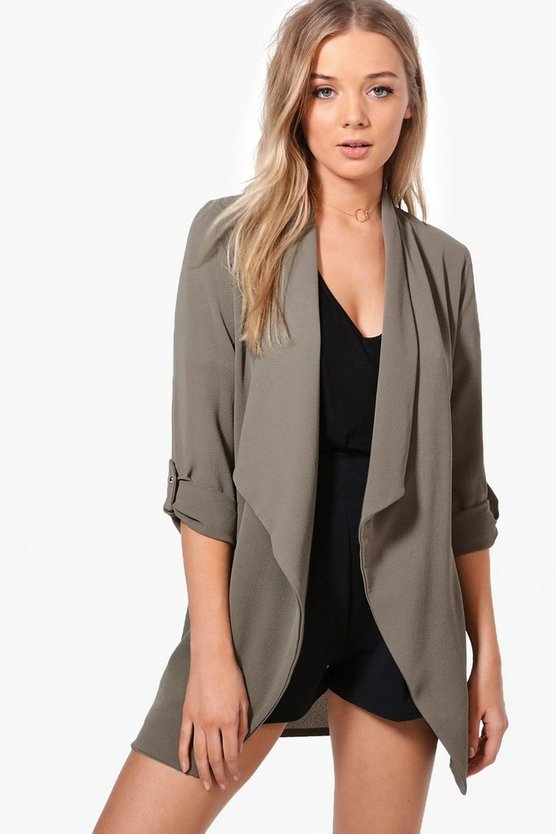 Lottie Waterfall Woven Duster