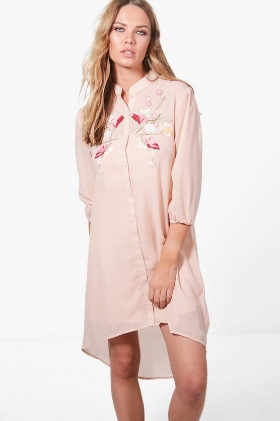 Ashley Boutique Floral Embroidered Dress