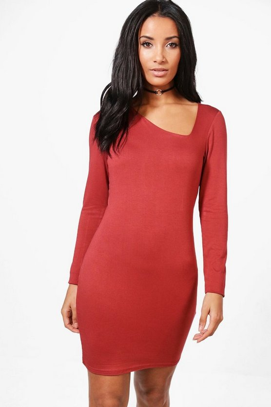 Anna Asymmetric Cut Out Bodycon Dress