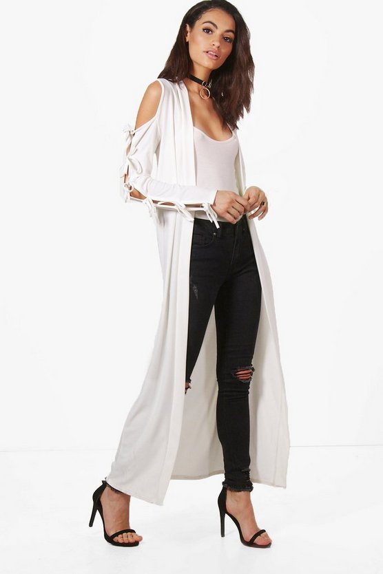 Milly Cold Shoulder Lace Up Kimono