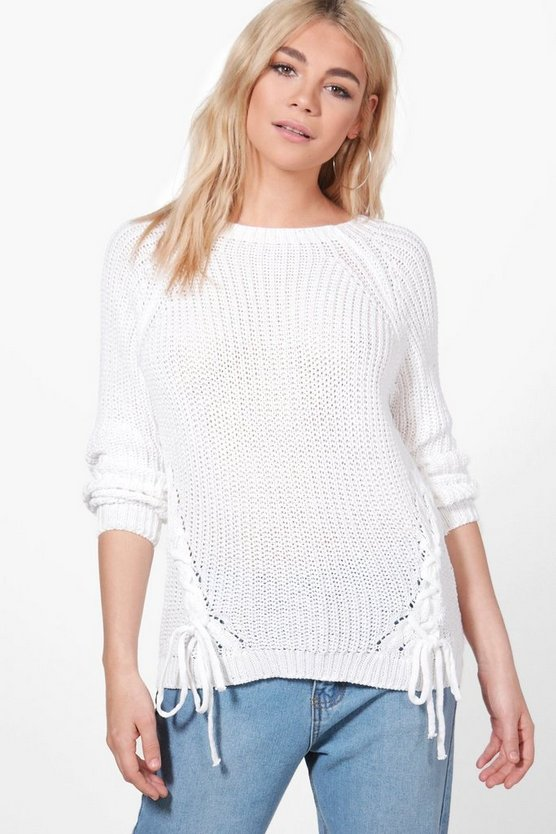 Karina Lace Up Detail Jumper