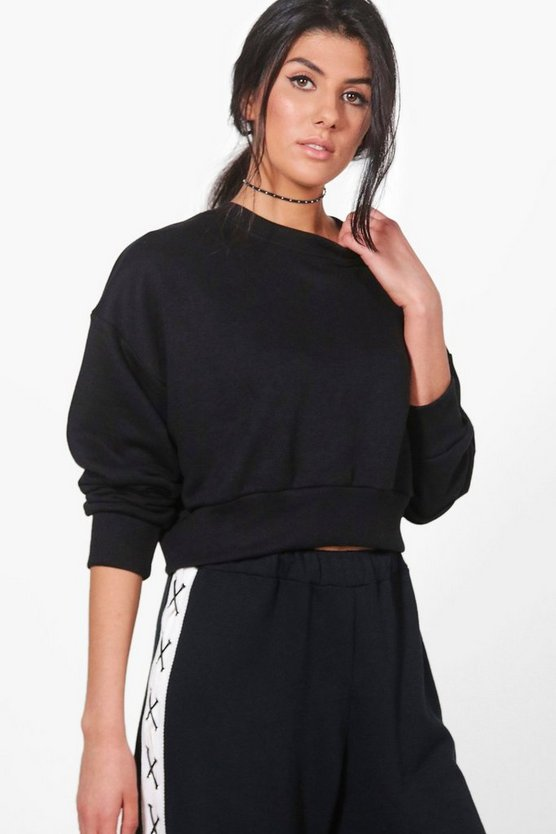 Oversized Slouchy Crop Sweatshirt