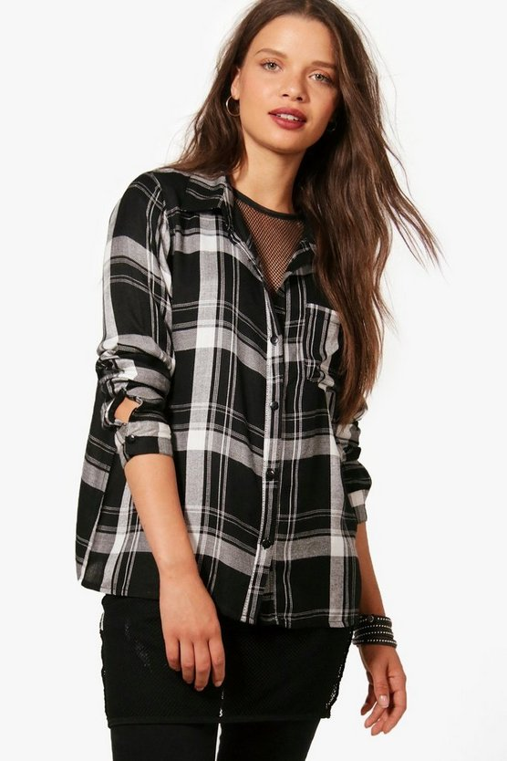 Poppy Oversized Checked Shirt