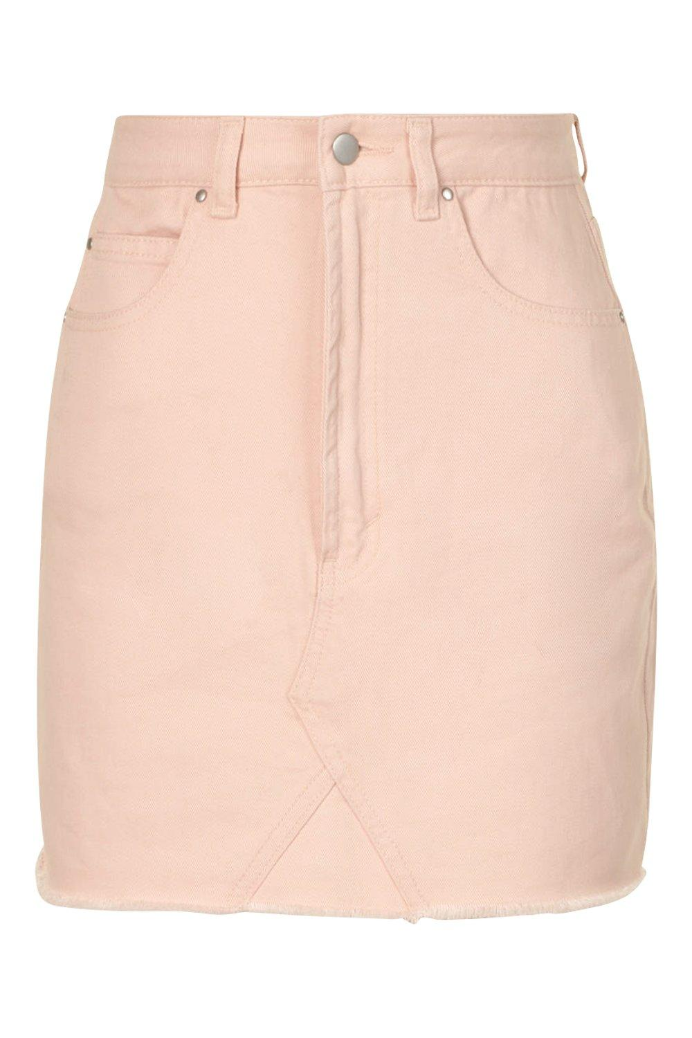 nude Hem Frayed Skirt Denim Nude TnIY4HqSn