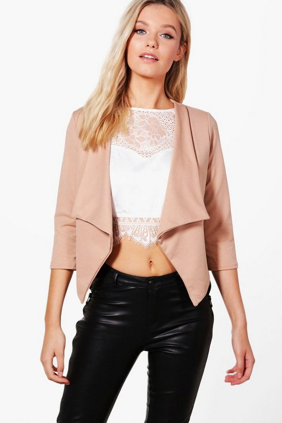 Daisy Shawl Collar Crop Blazer