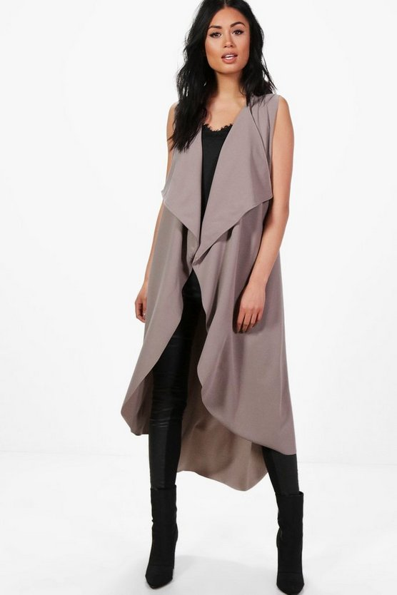Karina Sleeveless Waterfall Duster
