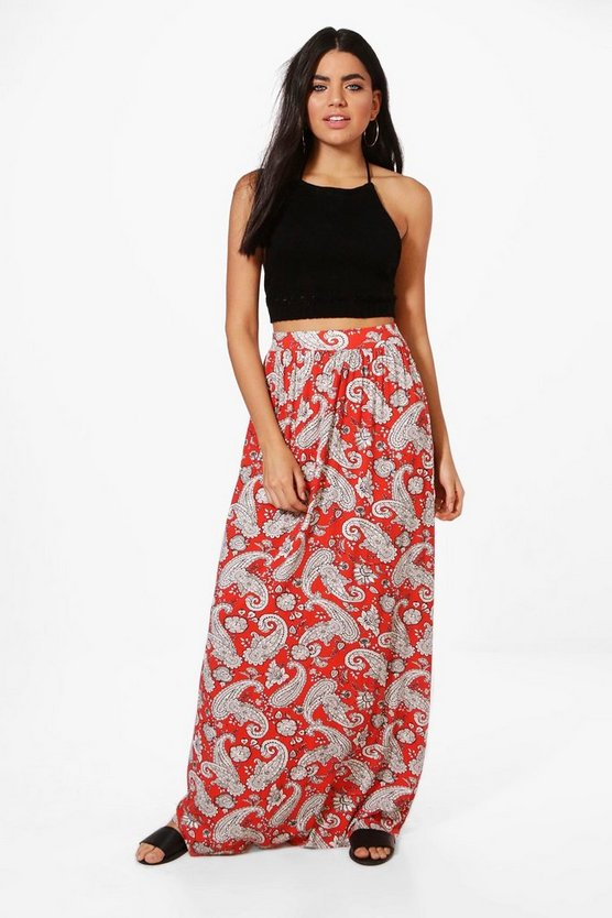 Ava Bohemian Floor Sweeping Maxi Skirt