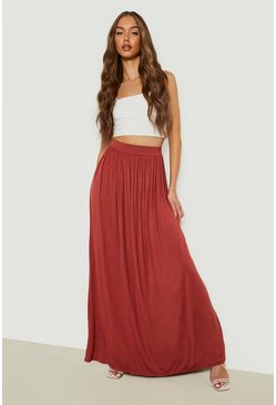 Spice Basic Floor Sweeping Jersey Maxi Skirt