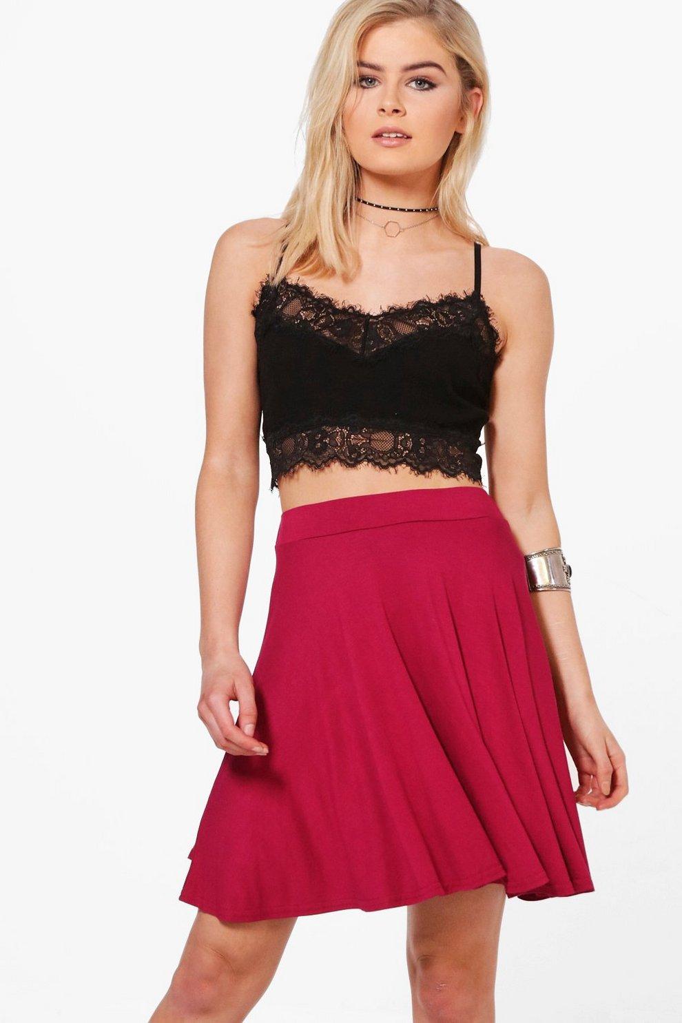 ffd109fb834e Amah Basic Jersey Skater Skirt