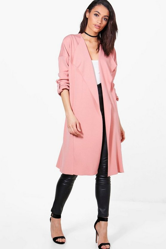 Womens Blush Holly Waterfall Duster Jacket